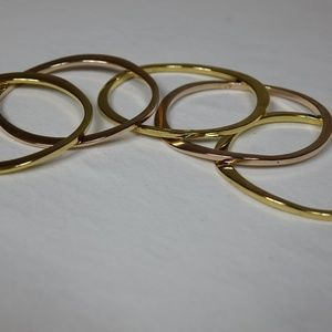 Jules Smith Jewelry - 5 Jules Smith gold-plated Surf bangle braclets